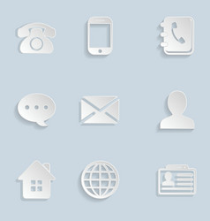 Contact Paper Icons Set vector
