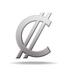 Costa rican and salvadoran colon currency symbol vector