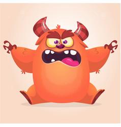 cute cartoon monster vector image