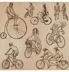 Cycling - An hand drawn pack vector