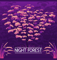 dark mystic violet forest background vector image