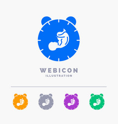 Delivery time baby birth child 5 color glyph web vector