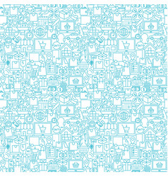 delivery white line seamless pattern vector image