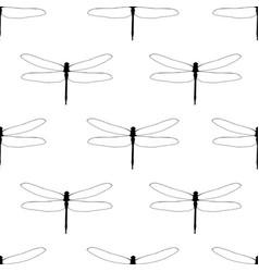 Dragonflies seamless pattern flat simple vector