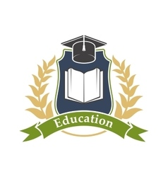 Education icon emblem for university college vector
