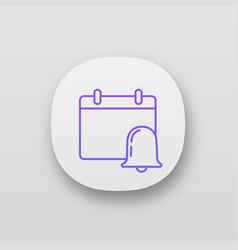 Event notification app icon vector