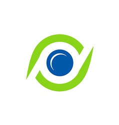 Eye spy monitor technology logo vector