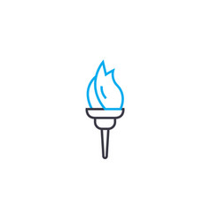 fire cup thin line stroke icon fire cup vector image