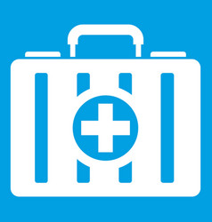 First aid kit icon white vector