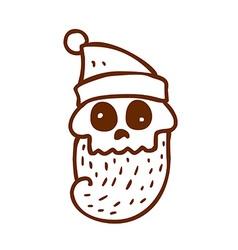 Hand Drawn Dead Santa Claus vector image