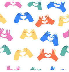 hands making heart sign vector image