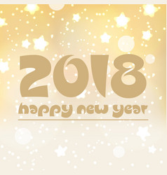 Happy new year 2018 on shiny abstract background vector