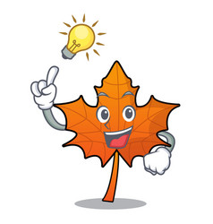 Have an idea red maple leaf mascot cartoon vector