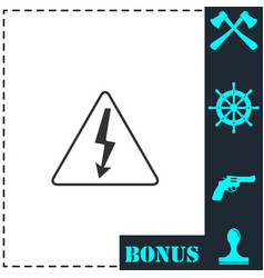 high voltage icon flat vector image