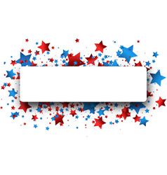 Independence day banner with stars vector