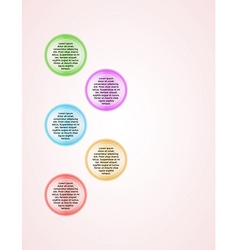 infographics - five color circle panels vector image