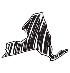 Isolated sketch state new york vector