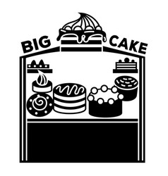 Kiosk with pies icon simple style vector