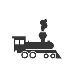 locomotive steam train icon design template vector image