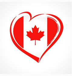 love canada emblem colored vector image