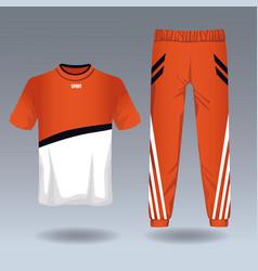 Male sport wear vector