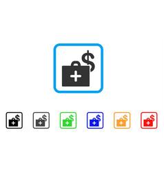 Medical fund case framed icon vector