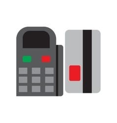 Modern flat icon bank card and terminal on white vector