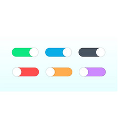 On and off switch toggle shutdown switcher button vector