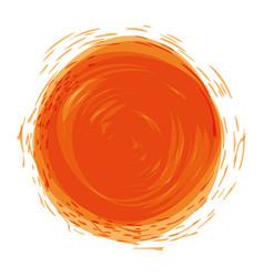 Orange watercolor art paint vector