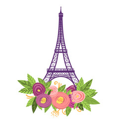 paris cute picture with the vector image
