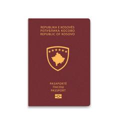 Passport kosovo citizen id template vector