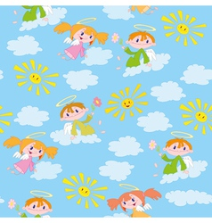 Pattern angels and suns vector