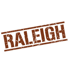 Raleigh brown square stamp vector