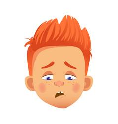 redhead boy character vector image