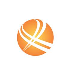 Round abstract x logo vector