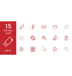 save icons vector image
