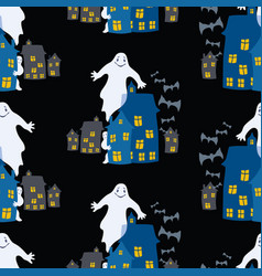 Seamless background ghosts in city vector