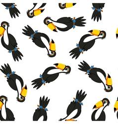 Seamless Funny Cartoon Toucan vector image vector image