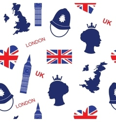 Seamless pattern background with London landmarks vector image