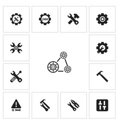 Set of 13 editable toolkit icons includes symbols vector