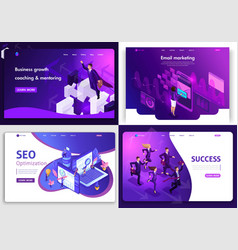 set of web page design templates for website vector image
