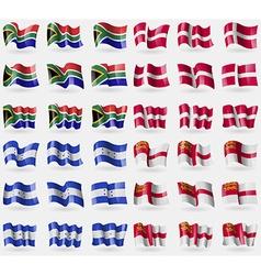 South Africa Denmark Honduras Sark Set of 36 flags vector