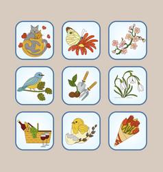 Springtime logo for your design vector