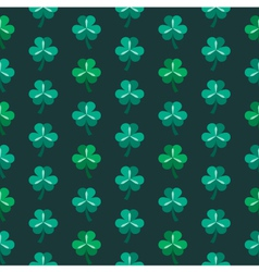 St patrick day seamless pattern with shamrock vector image