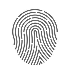 symbol fingerprint vector image