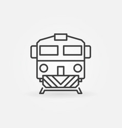 Train linear icon vector