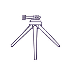 Tripod for action camera isolated icon vector