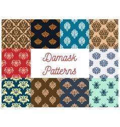 Vintage damask tracery seamless pattern background vector