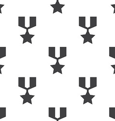 war medal seamless pattern vector image