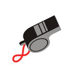 Whistle logo design vector